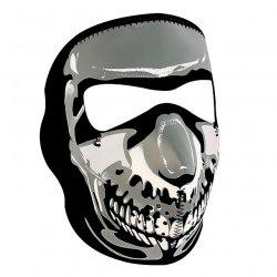 Masque entier, Neoprene, Chrome Skull