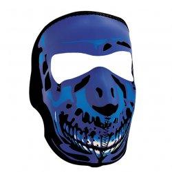 Masque entier, Neoprene, Blue Chrome Skull