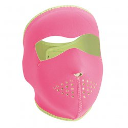 Masque entier, Neoprene, Pink Reverses to Lime