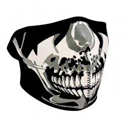 Demi-masque, Neoprene, Chrome Skull