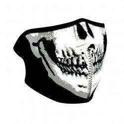 Demi-masque, Neoprene, Skull Face