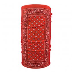 Motley Tube & Reg Polyester, Red Paisley