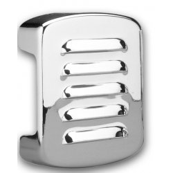 Coil Cover Louvered, Chrome