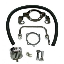 Chrome Mounting And Breather Kit