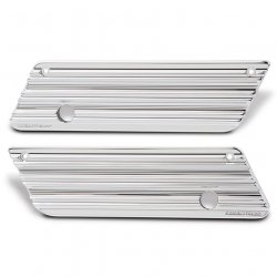Saddlebag Latch Covers, 10-Gauge, FLT 96-13, Chrome