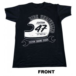 T-Shirt, Edition 47, Men, Black, Taille S