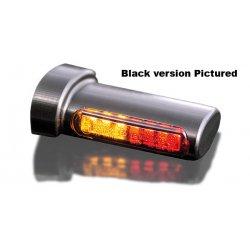 Feu stop et clignotant 2 en 1 LED Winglets par Heinz Bikes, chrome, arrière