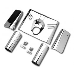 5 Pieces Fork Cover Set, chrome