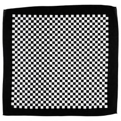 Bandana, Checkers Mandana, Black, White