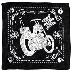 Bandana, Chopper Mandana, Black, White