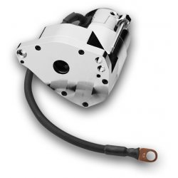 Spyke High-Torque Starter for Rubber Mounted Big Twin Polished, Except Enclosed Rear Chain