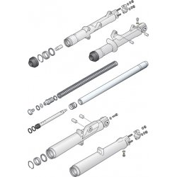 FORK SLIDER BUTTOM STUDS & NUTS