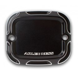Arlen Ness Beveled Front Master Cylinder Covers, Black