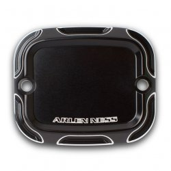 Arlen Ness Beveled Front Brake Master Cylinder Covers, Black