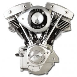 "S&S 103"" Alternator Shovelhead Engine, Natural Finish"