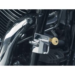 "Chrome Universal Helmet Lock, 7/8"" to 1-1/4"" Tubing"