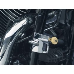 "Chrome Universal Helmet Lock, 1-1/4"" to 1-1/2"" Tubing"